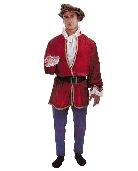 costume di carnevale PAGGIO DI CORTE COMPLETO